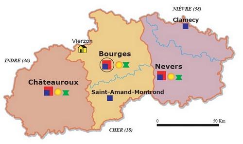ressort de la cour d'appel de Bourges